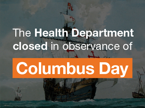Health Department Closed Columbus Day