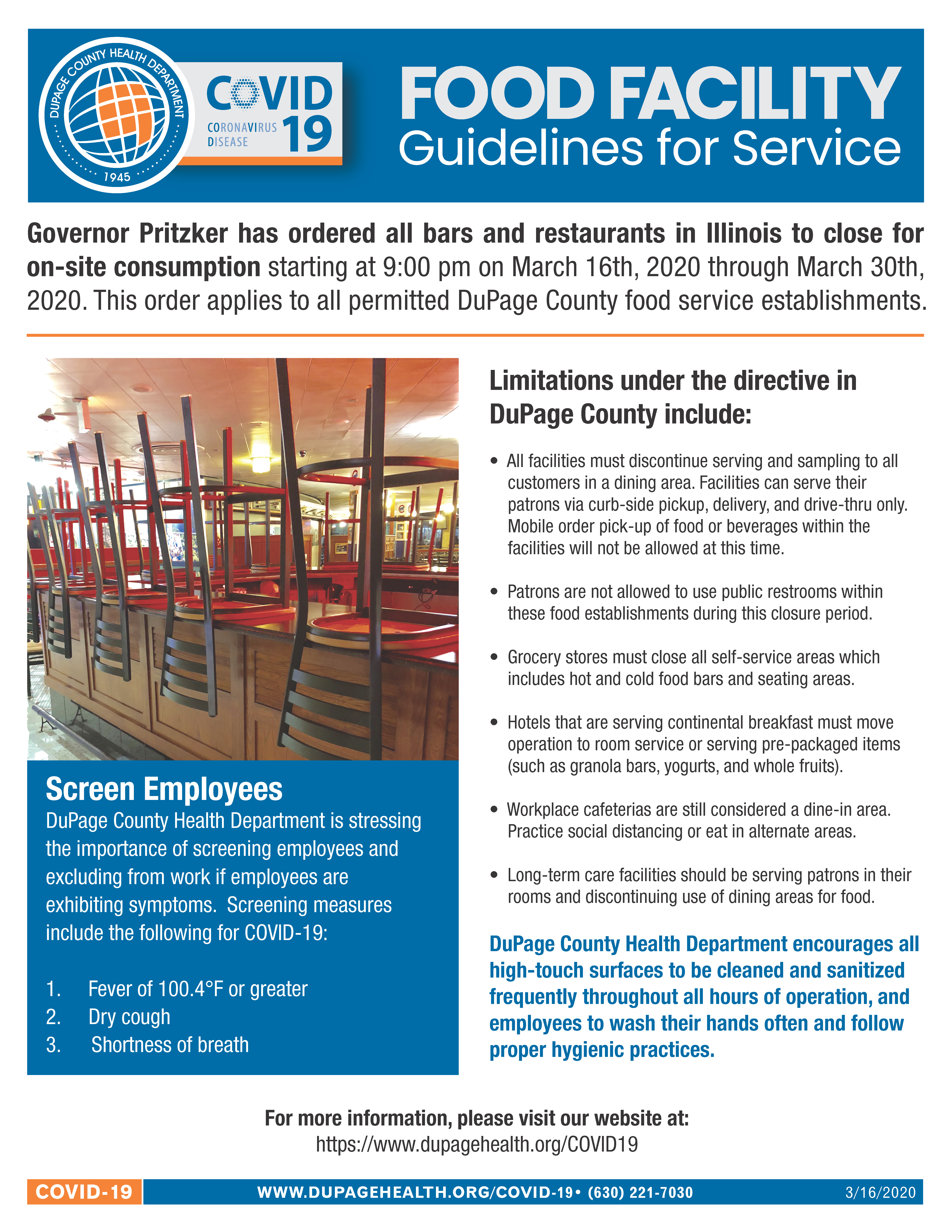 DCHD - COVID-19 Food Facilities Guidelines for Service (3-16)