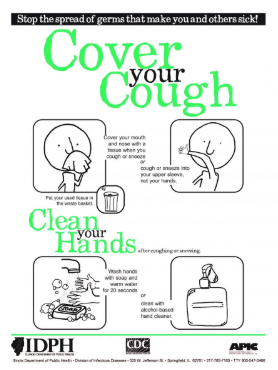 Cover Your Cough Steps